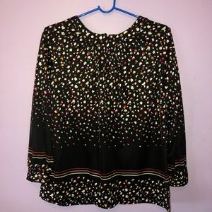 Tops - Black Colorful Blouse